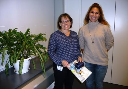 Susanne Balslev Nielsen (left) and Ann-Elise Gustavsen enjoying a good day's work